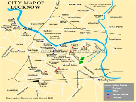 map of lucknow city lucknow travel beautiful places