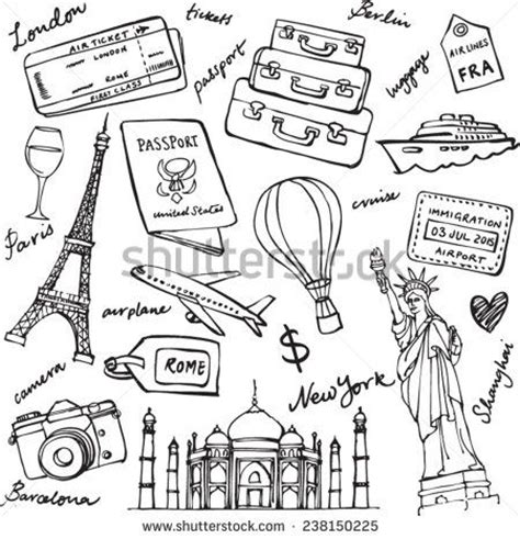 travel doodle free vector 25 trending travel drawing ideas on doodle