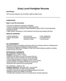 Entry Level Firefighter Resume Firefighter Resume Template 7 Free Word Pdf Document