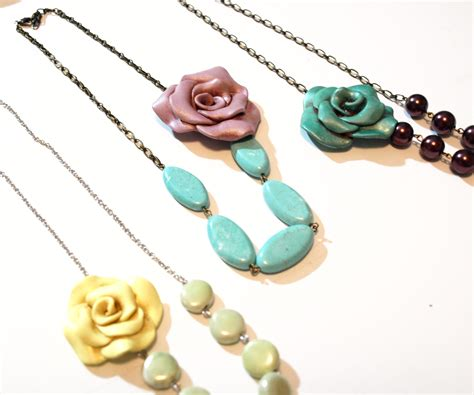 how to make jewelry with clay how to make a vintage inspired clay necklace 16