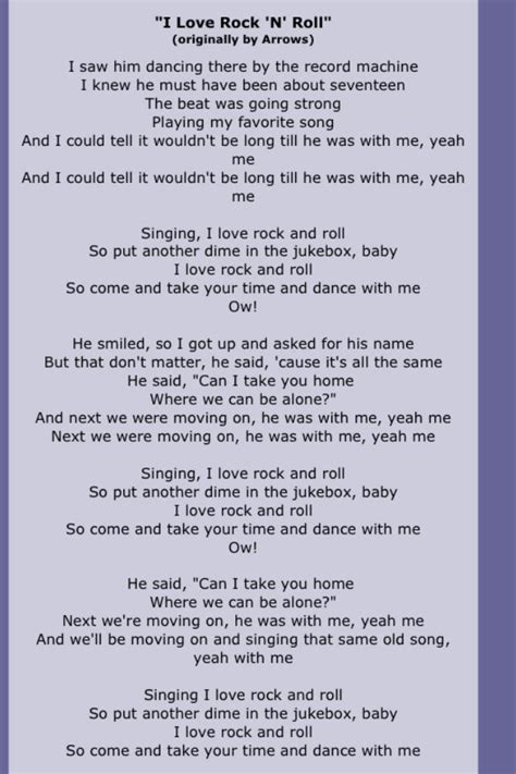 lyrics rock 18 best rock n roll images on rocks