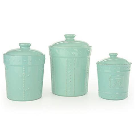set of 3 metal canisters aqua teal lids white kitchen farmhouse kitchen canister sets and farmhouse decor ideas