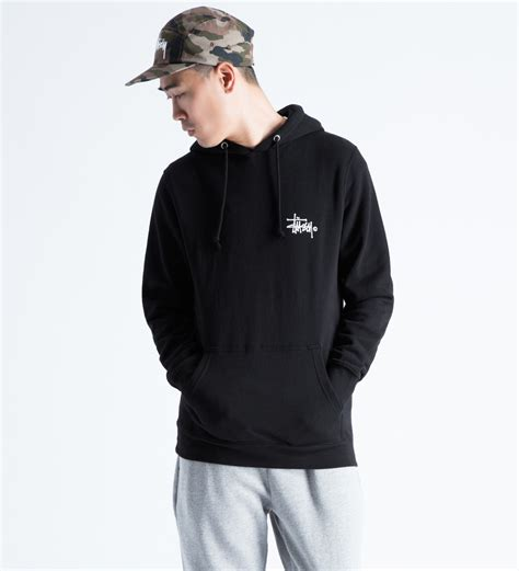 Hoodie Sweater Stussy 1 stussy black basic logo hoodie in black for lyst