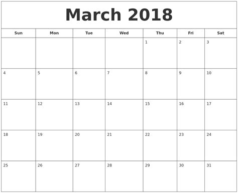 printable calendar march april 2018 march 2018 printable calendar