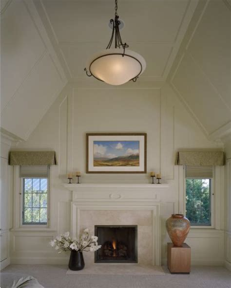 Vaulted Ceiling To Flat Ceiling Vaulted Paneled Ceiling With A Flat Top Living And