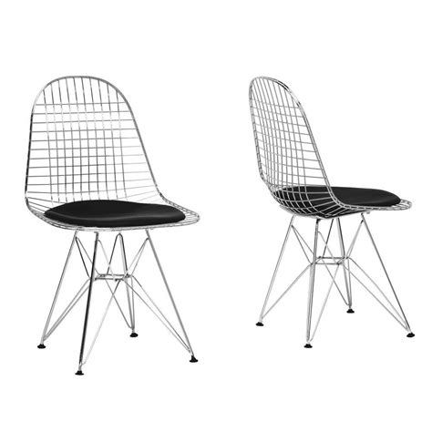 Wire Dining Chair Baxton Studio Avery Chrome Steel Wire Dining Chair Set Of
