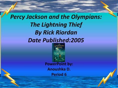 percy jackson and the lightning thief book report ppt percy jackson and the olympians the lightning thief