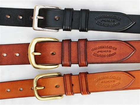Handmade Leather Belts Uk - quality handmade leather belts oak bark leather