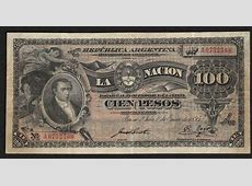 Argentina 100 Pesos banknote 1895 First issue|World ... Euro Bill