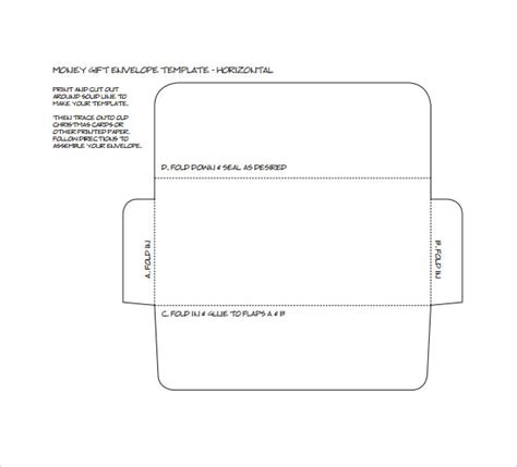 money envelope template 7 sles exles format