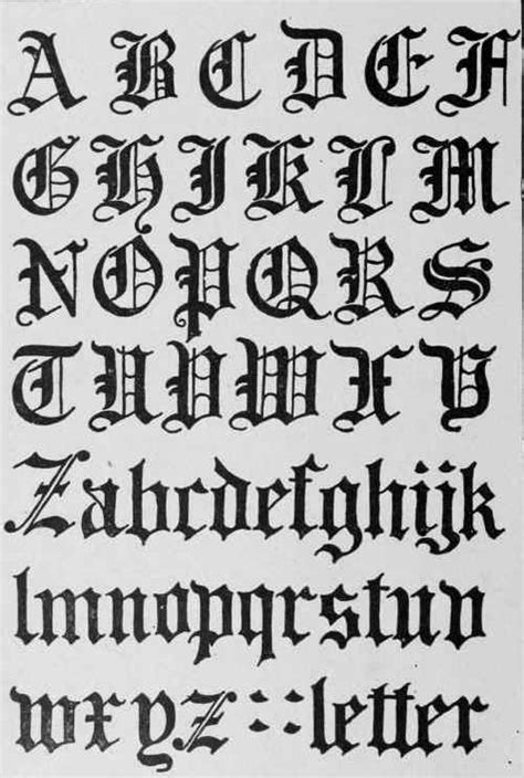 gothic tattoo alphabet gothic black letter script evolved from carolingian in