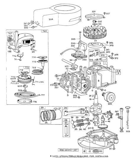 briggs and stratton lawn mower engine parts diagram toro 16000 lawnmower 1971 sn 1000001 1999999