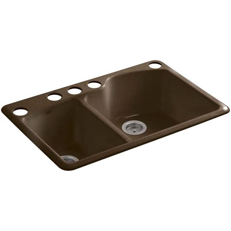 kohler wheatland undermount cast iron 33 in 5