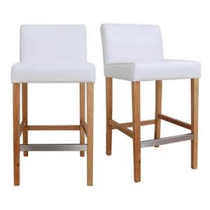 Cheap Leather Bar Stools Cosmopolitan Modern White Leather Counter Stools Set Of 2