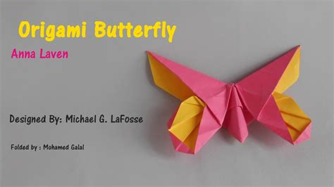 Origami G - origami butterfly laven by michael g lafosse