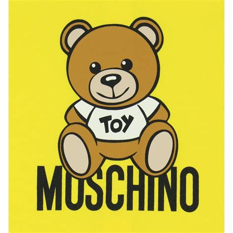 grown teddy moschino unisex yellow baby grow with teddy print moschino from chocolate