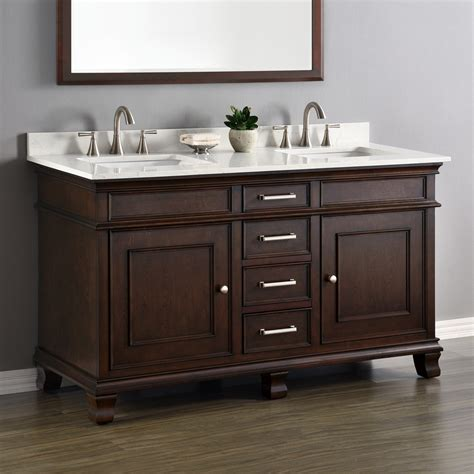 double sink bathroom cabinets camden 60 quot double sink vanity mission hills furniture