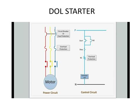 direct starter circuit diagram wiring