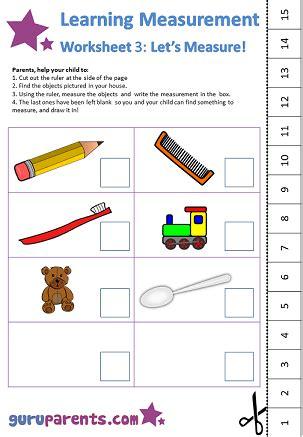 learning measurement worksheets guruparents