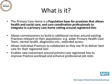the primary care home warrington