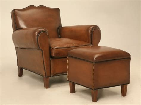custom leather ottoman custom leather ottoman to match club chair for sale old