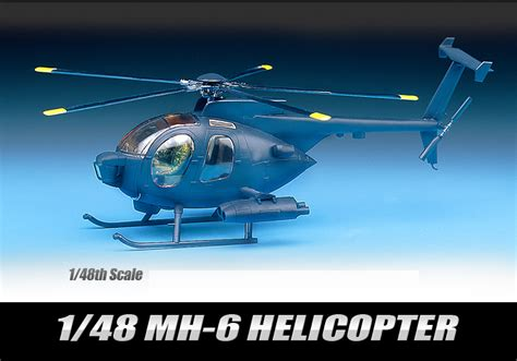 Academy 1 48 Plastic Model Kit Mh 6 Stealth Helicopter 12260 Academy Helicopter Hobby Decal 1 48 Scale Plastic Model