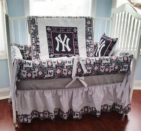 yankees bedding set yankee crib bedding new baby crib bedding set m w ny
