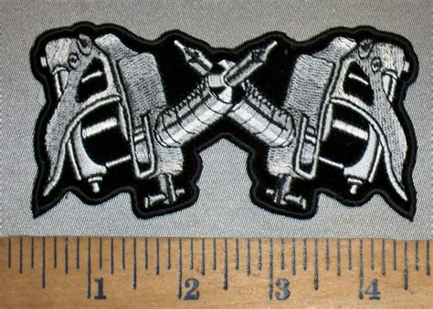 tattoo gun embroidery design 4408 cp tattoo guns small version embroidery patch