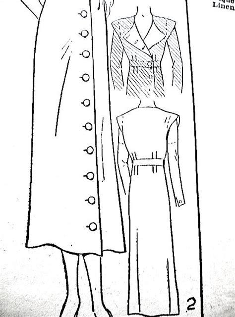 dress pattern exle 1930s one piece dress pattern excella e4122 by fancywork