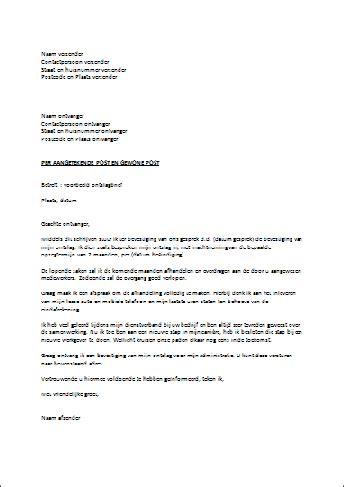 standaard layout zakelijke brief voorbeeld ontslagbrief