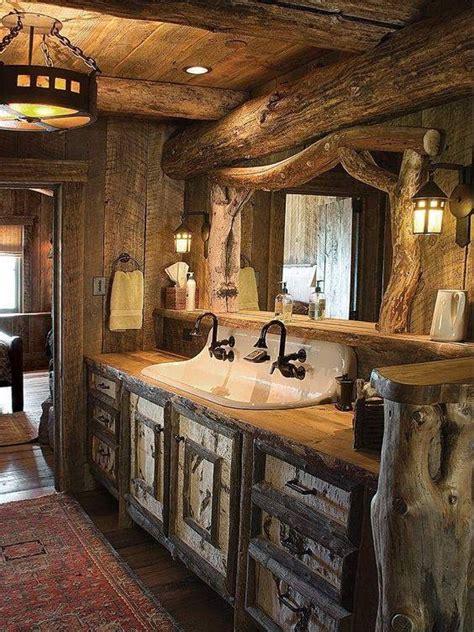 coole badezimmerthemen interessante ideen f 252 r rustikale badezimmer aus holz und