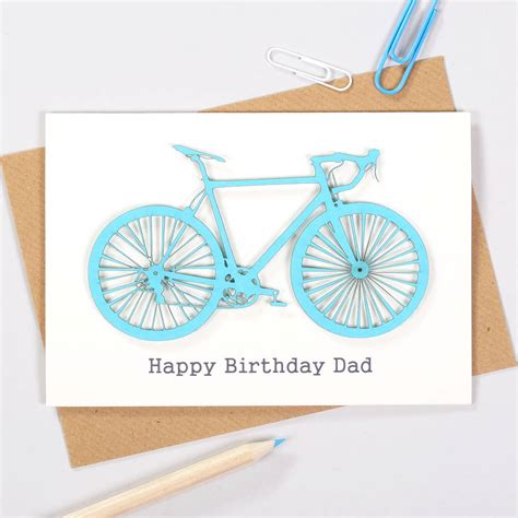 Bicycle Cyclist Blue Cards personalised cyclists papercut bicycle birthday card by