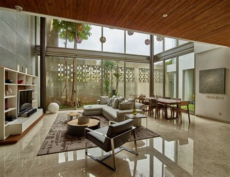 Savvy Design Home Jakarta Nearly Every Room In This Lush Jakarta Home Connects With