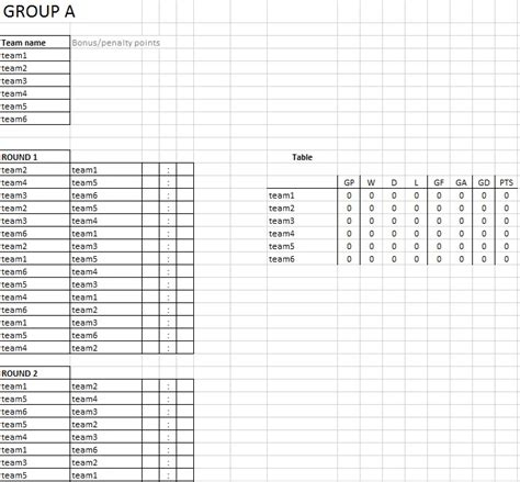 tournament schedule template tournament schedule template 6 free templates schedule