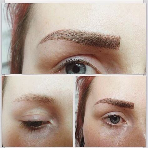 before and after my eyebrow tattoos waking up with my