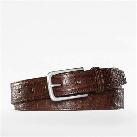 couch belts coach alligator belt in brown for men lyst