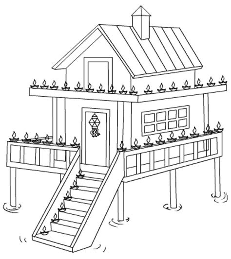 decorated house coloring pages kidsworld kids world page 2