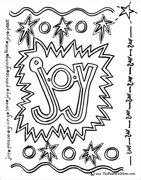 coloring page joy  peaceful mom