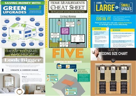 home design money cheat 25 home d 233 cor infographics and cheat sheets that every
