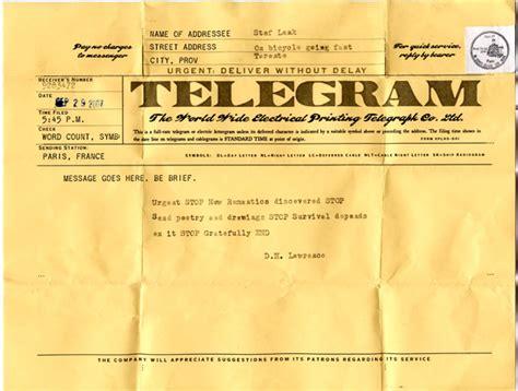 telegram template andrew oleksiuk telegraph service ephemera collections