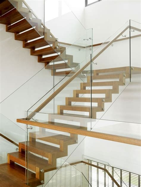 stair banister glass modern staircase design for your home bass modern