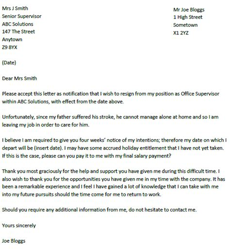 resignation letter format resignation letter due to illness with reasonable thank you