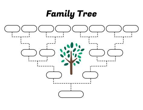 Simple Family Tree Template Free Family Tree Templates Easy To Use Family Tree Template