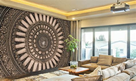 3d wallpaper for home wall india 3d wall mural groupon goods
