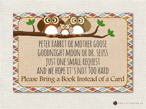 Bring A Book Instead Of A Card Babyshower Free Template by Baby Shower Bring A Book Instead Of Card Book Request Book