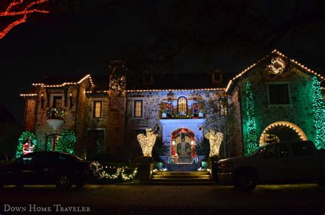 holiday light hunting in highland park down home traveler