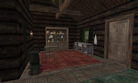 backwoods cabin     tells    shou flickr