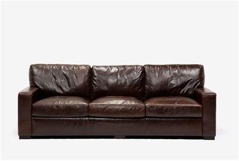 Terracotta Leather Sofa Cindy Crawford Home Lusso Papaya Terracotta Leather Sofa