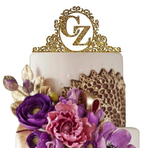 Monogram Wedding Cake Toppers by Top 10 Best Monogram Cake Toppers Heavy