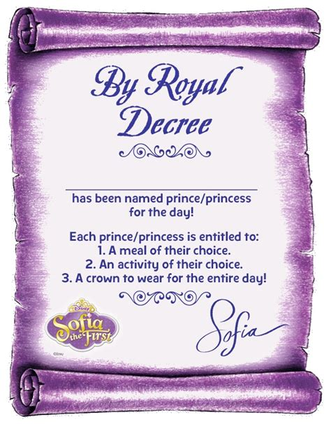 decree your little one prince or princess of the day